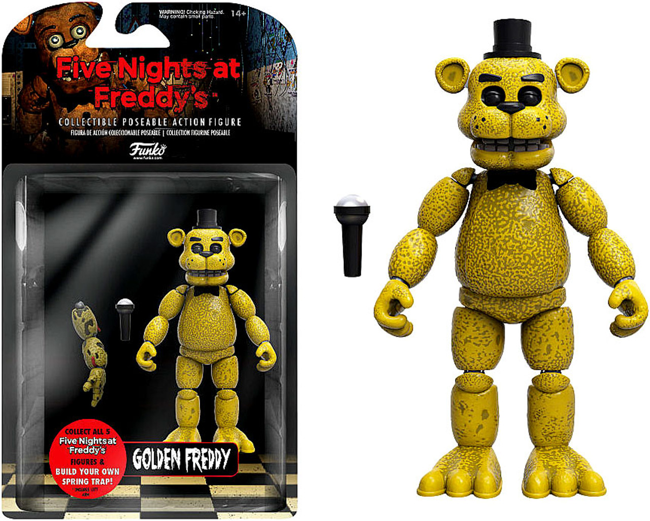 Funko Five Nights At Freddys Golden Freddy Action Figure Build Spring Trap