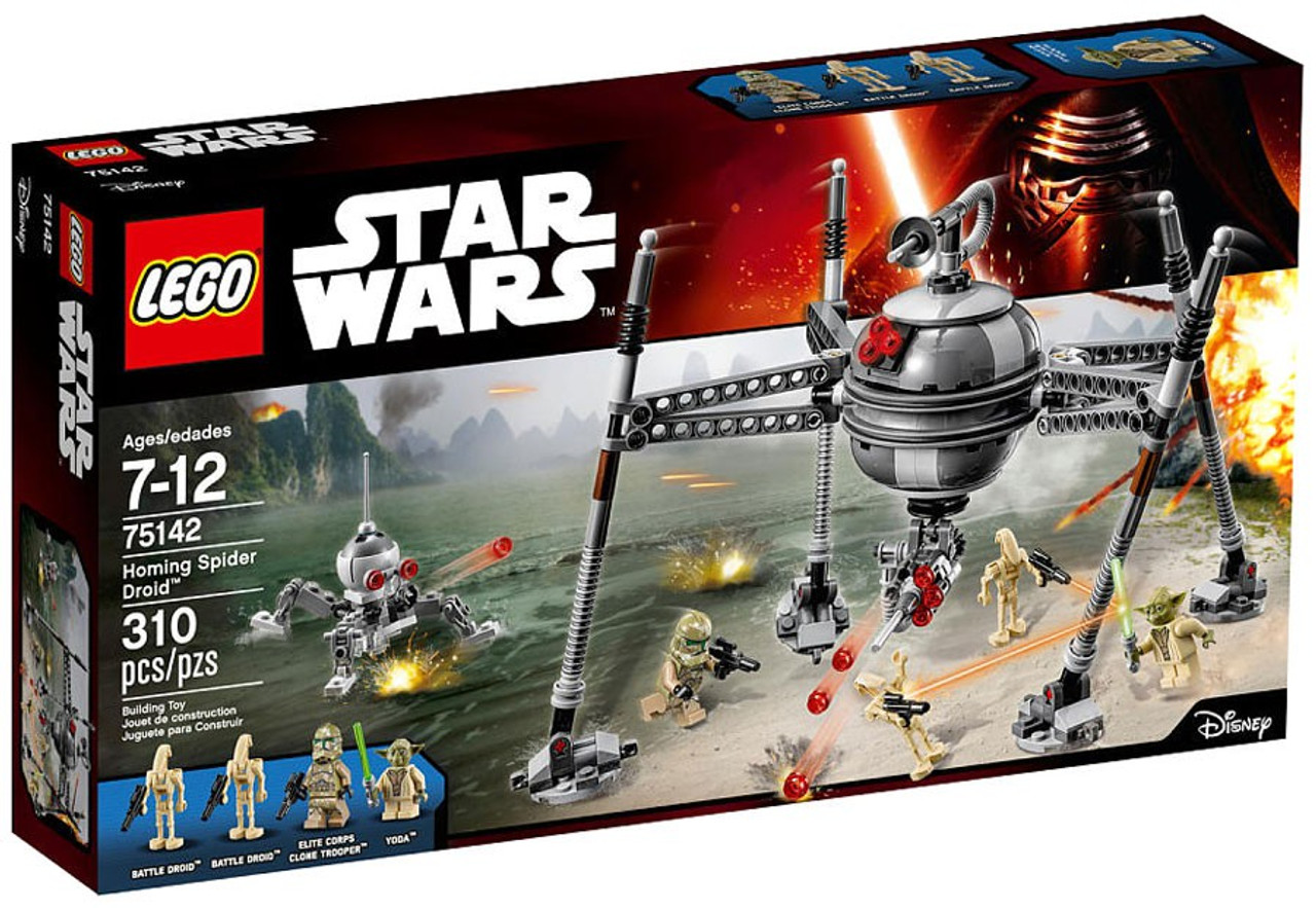LEGO Star Wars The Force Awakens Homing Spider Droid Exclusive Set #75142