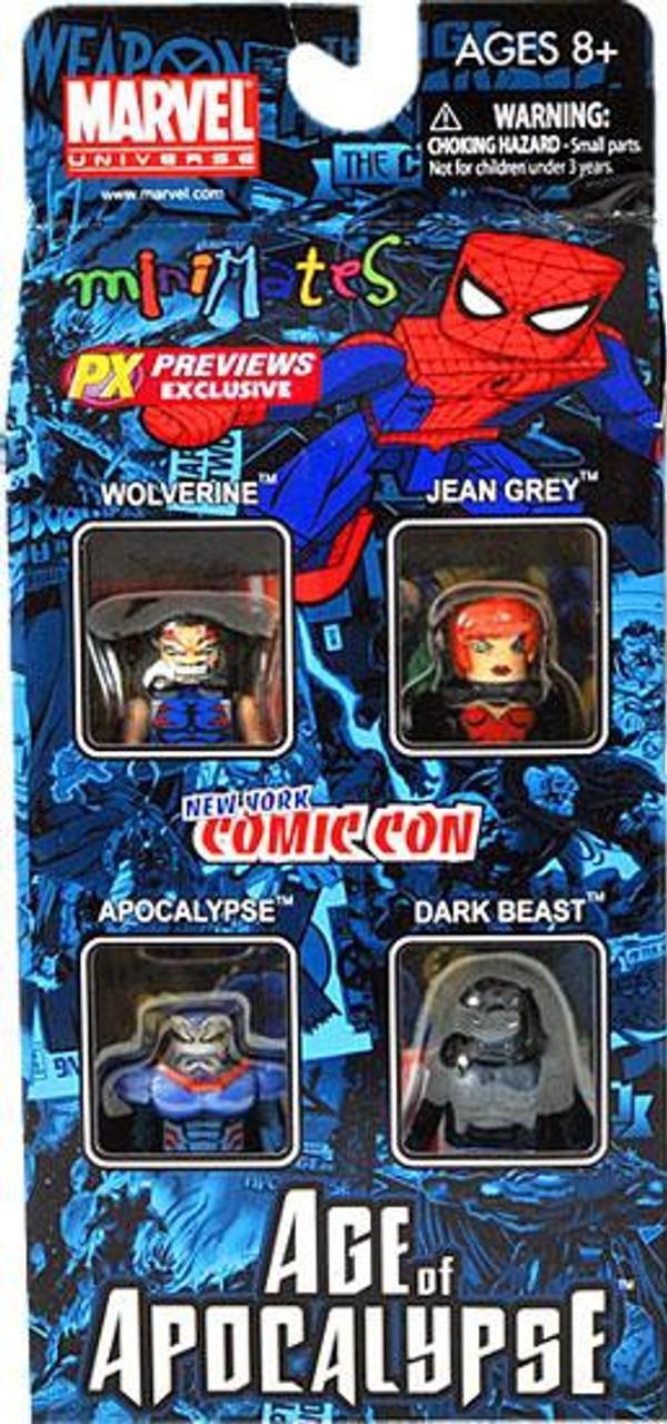 Marvel MiniMates Age of Apocalypse Set #2 Exclusive Minifigure 4-Pack