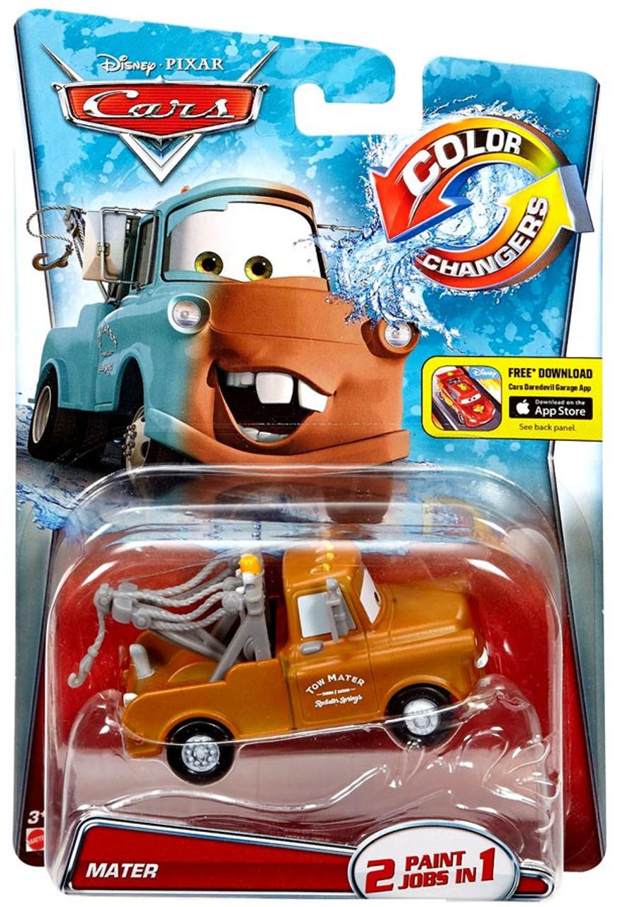 Car Toys Color : Disney pixar cars color changers mater brown diecast