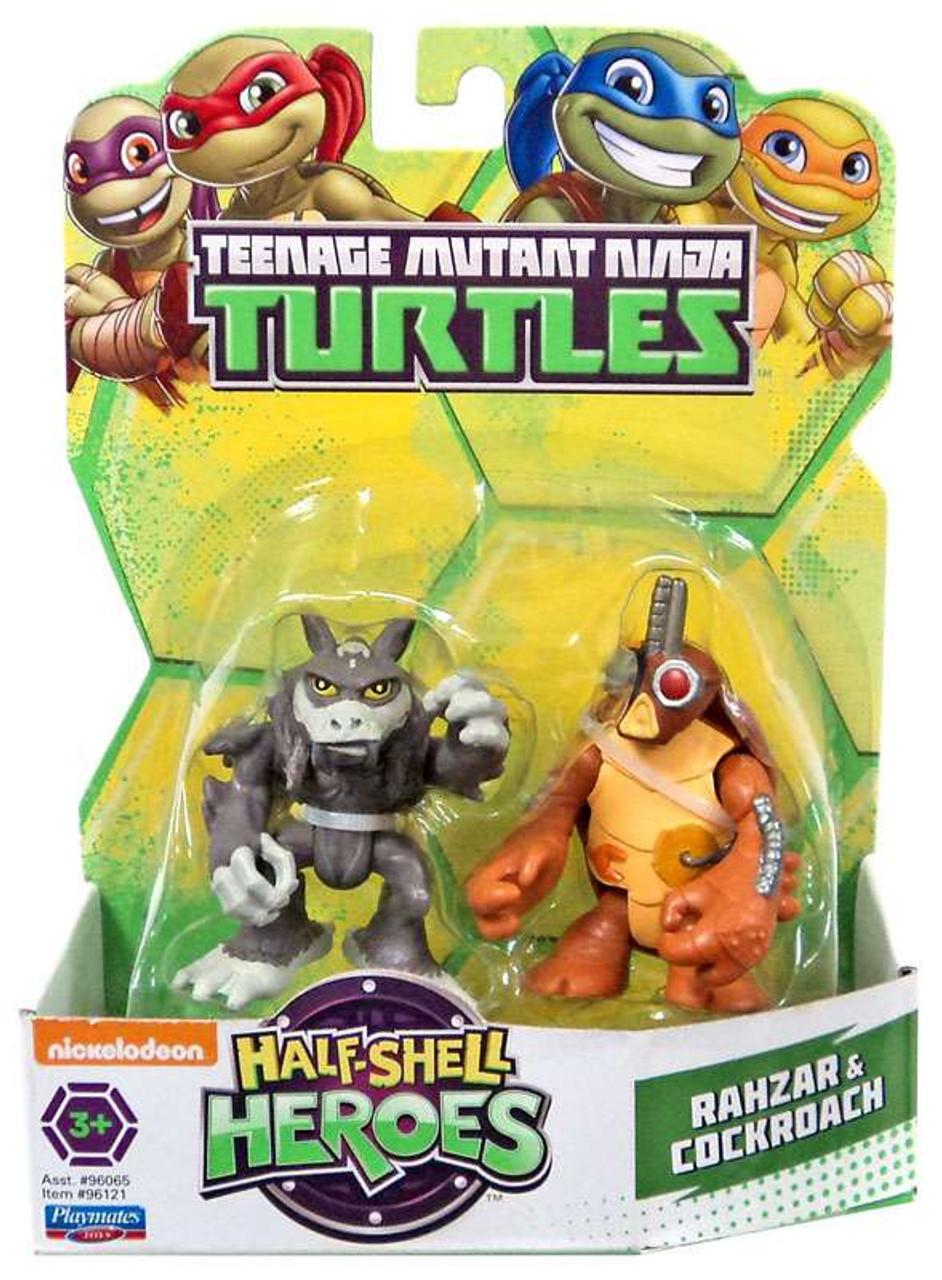 Teenage Mutant Ninja Turtles TMNT Half Shell Heroes Rahzar & Cockroach  Action Figure 2-Pack