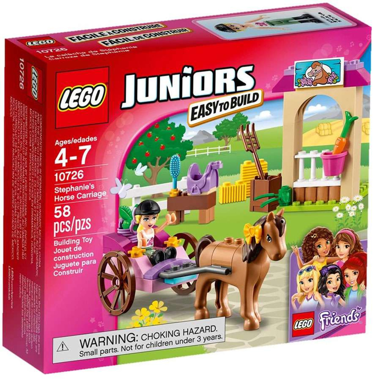 Lego Juniors Friends Stephanies Horse Carriage Set 10726 Toywiz