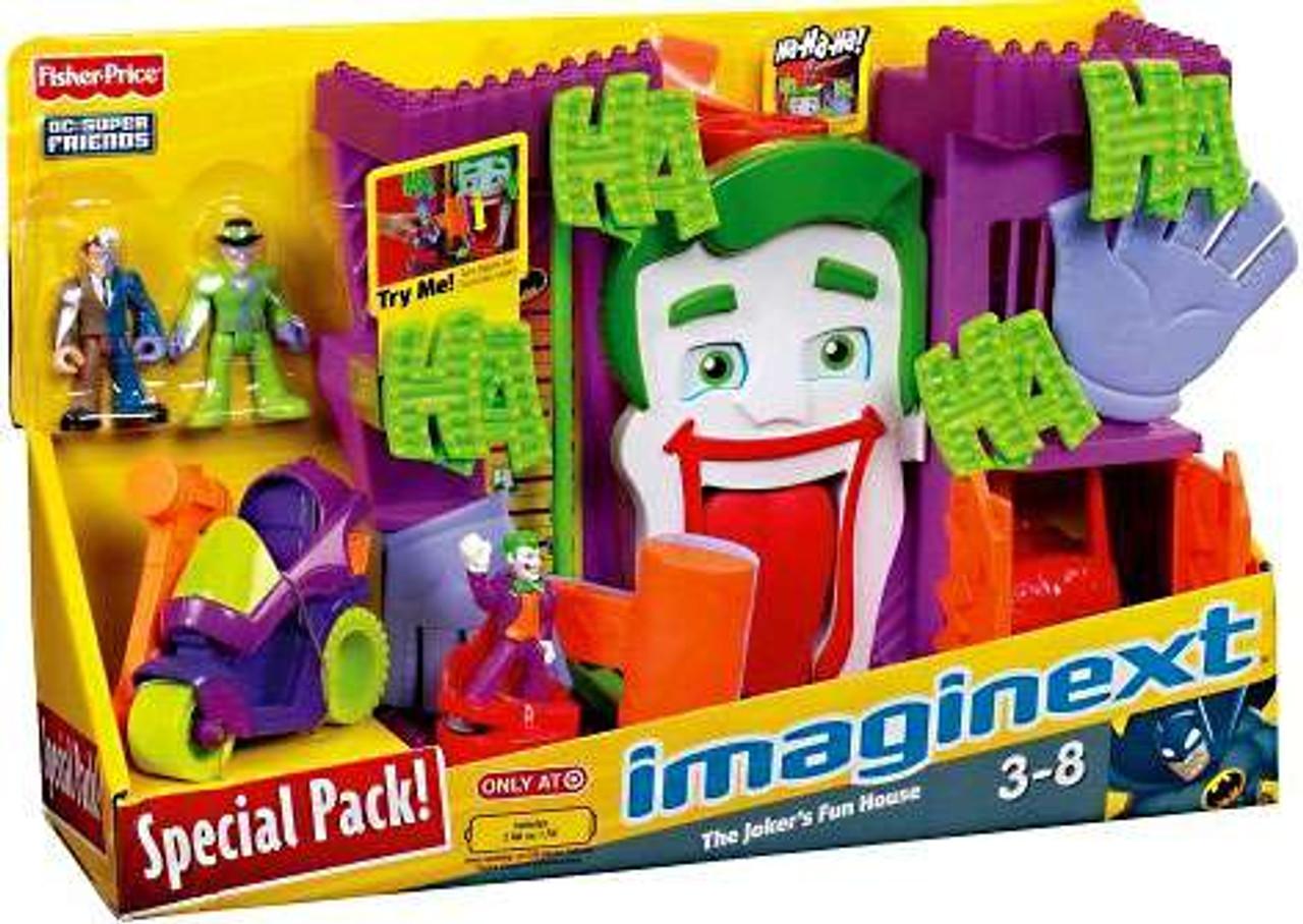 Fisher Price DC Super Friends Batman Imaginext The Joker's Fun House Exclusive 3-Inch Figure Set [Special Pack]