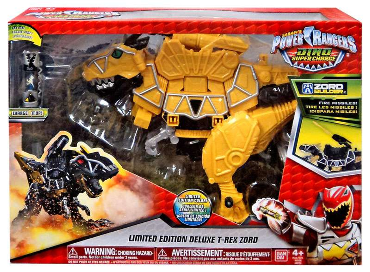 power rangers dino super charge yellow t rex zord deluxe action figure 43150 limited edition. Black Bedroom Furniture Sets. Home Design Ideas