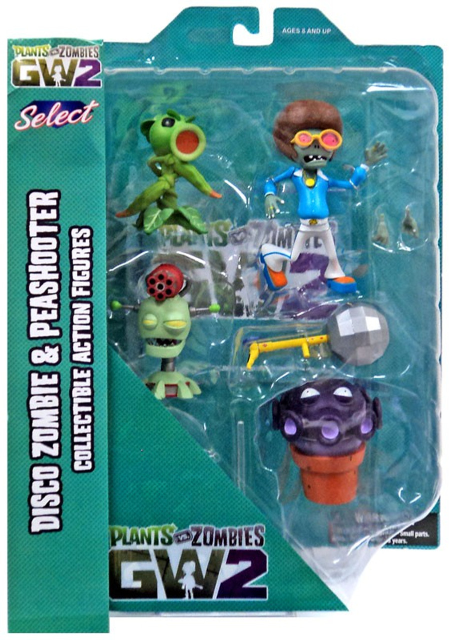 Plants Vs Zombies Garden Warfare 2 Select Series 1 Peashooter Vs Disco Zombie Action Figure