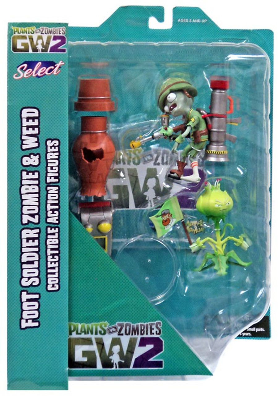 Plants Vs Zombies Garden Warfare 2 Select Series 1 Weed Vs Soldier Zombie Action Figure