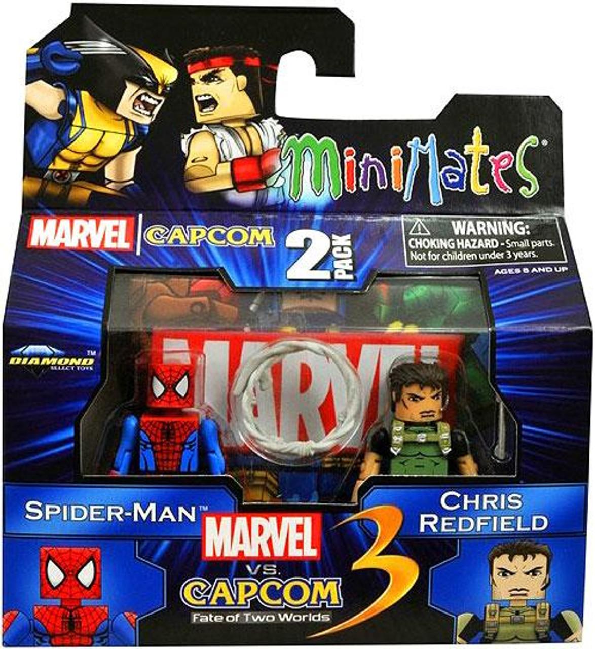 Marvel vs Capcom 3 Minimates Series 2 Spider-Man Vs. Chris Redfield Minifigure 2-Pack