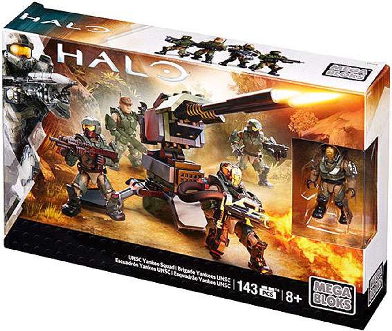 Mega Bloks Halo Covenant Brute Lance Set [UNSC Yankee Squad]