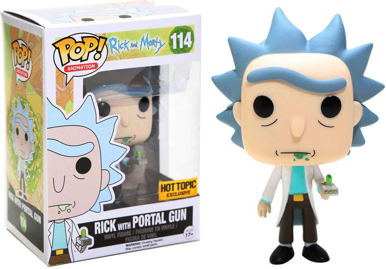Funko Rick Morty Pop Animation Rick With Portal Gun