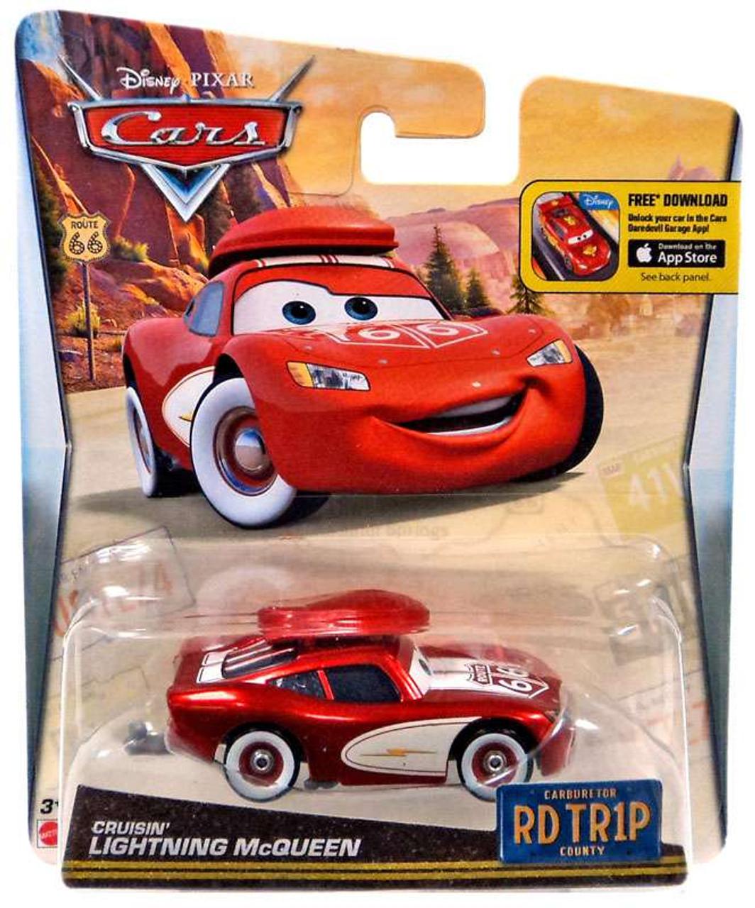 Disney Pixar Cars RD TR1P Cruisin Lightning McQueen 155 Diecast Car ...