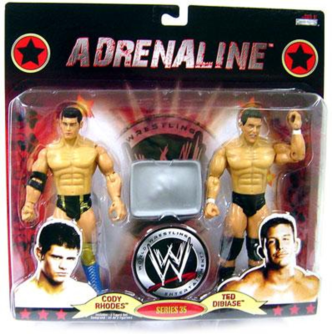 WWE Wrestling Adrenaline Series 35 Cody Rhodes & Ted Dibiase Action Figure 2-Pack