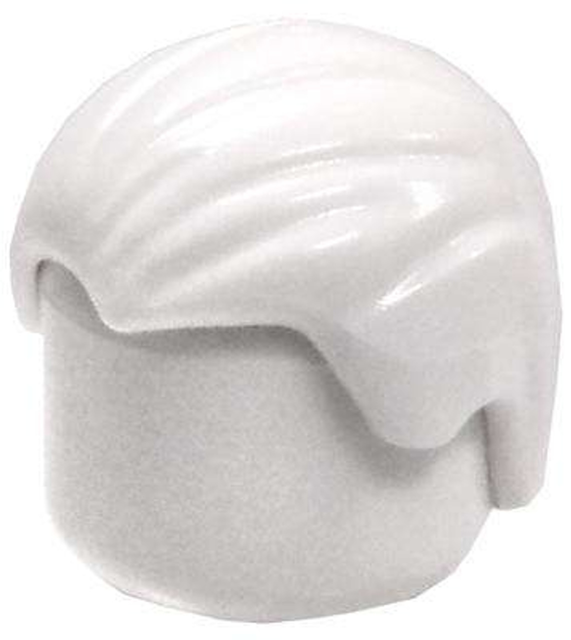 LEGO White Combed Front To Back Loose Hair [Loose]