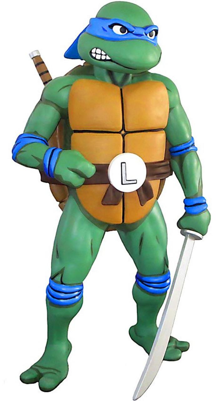 NECA Teenage Mutant Ninja Turtles Life-Size Scale Leonardo Foam Figure