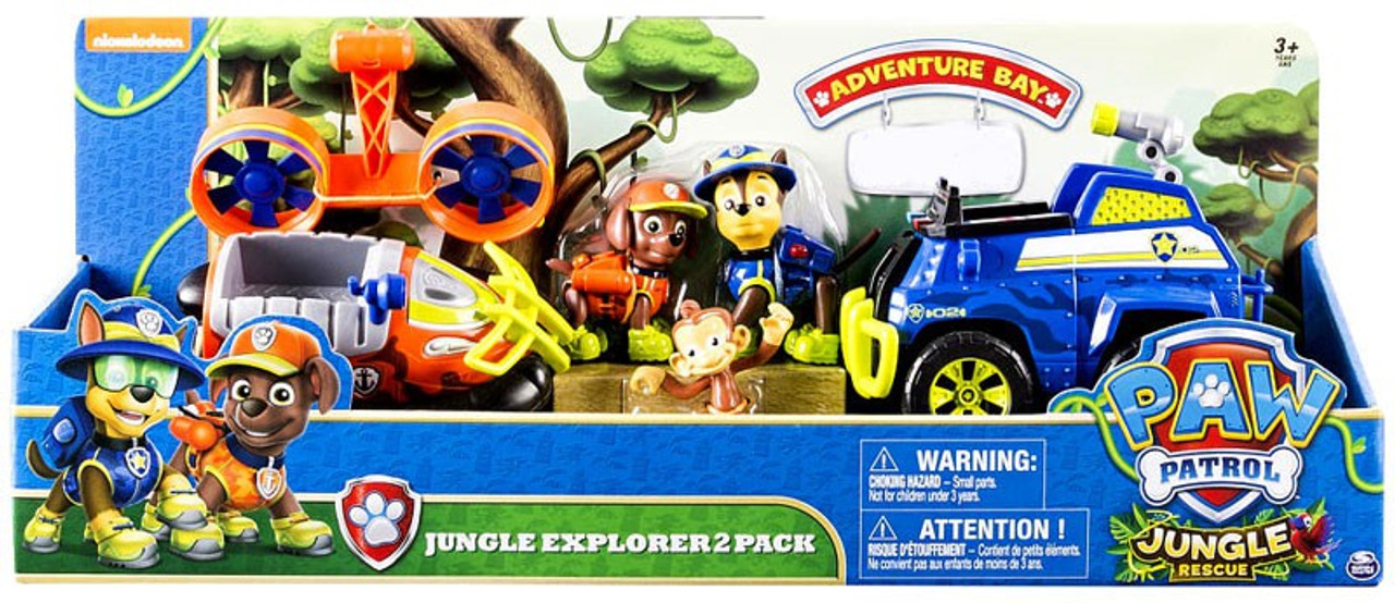 Paw Patrol Jungle Rescue Jungle Explorer Exclusive Vehicle Figure Set Spin  Master   ToyWiz