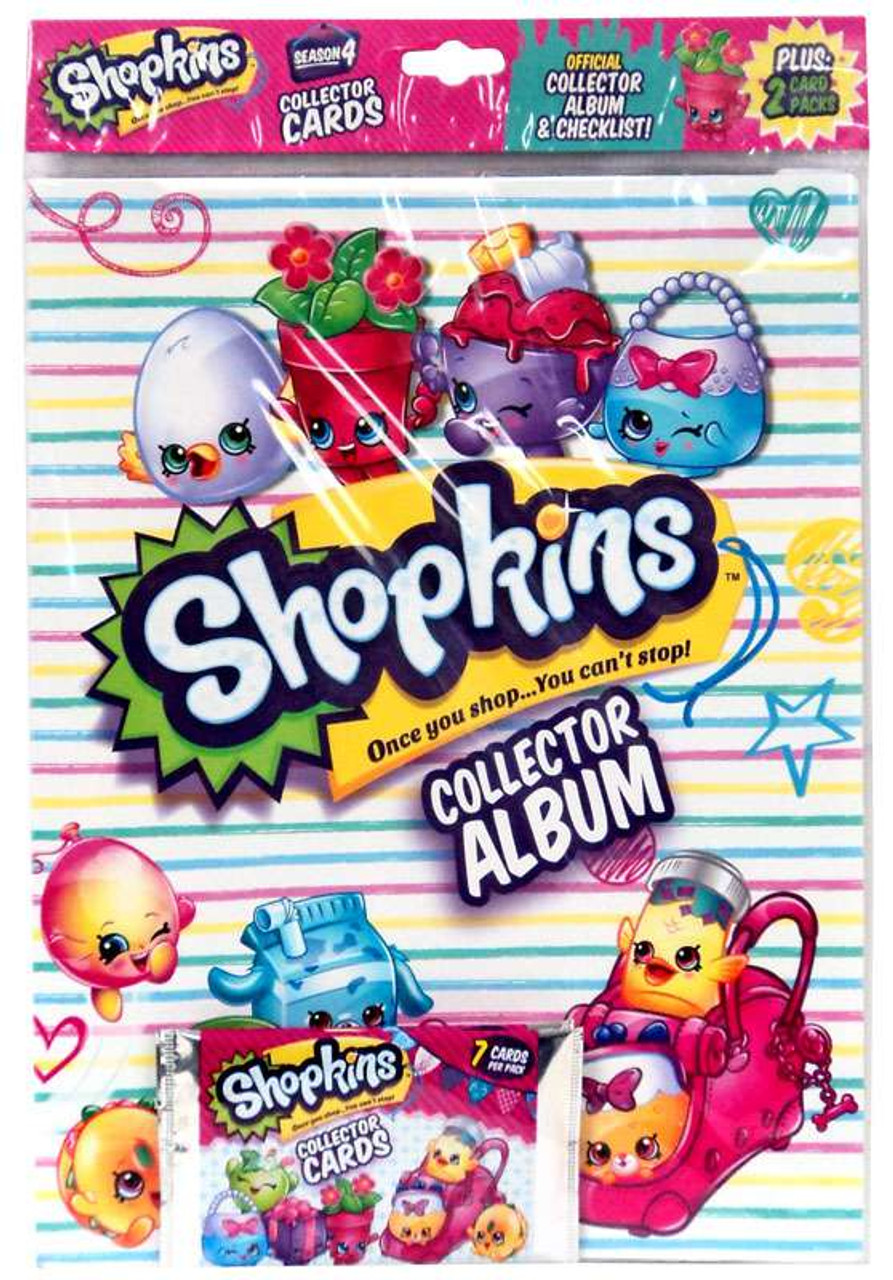 Shopkins Season 4 Trading Cards Collector Album Bulls I Toy