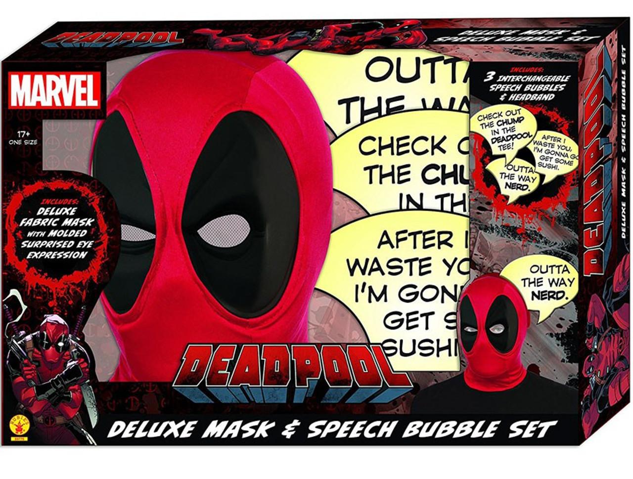 Marvel Deadpool Deadpool Deluxe Mask Speech Bubble ...