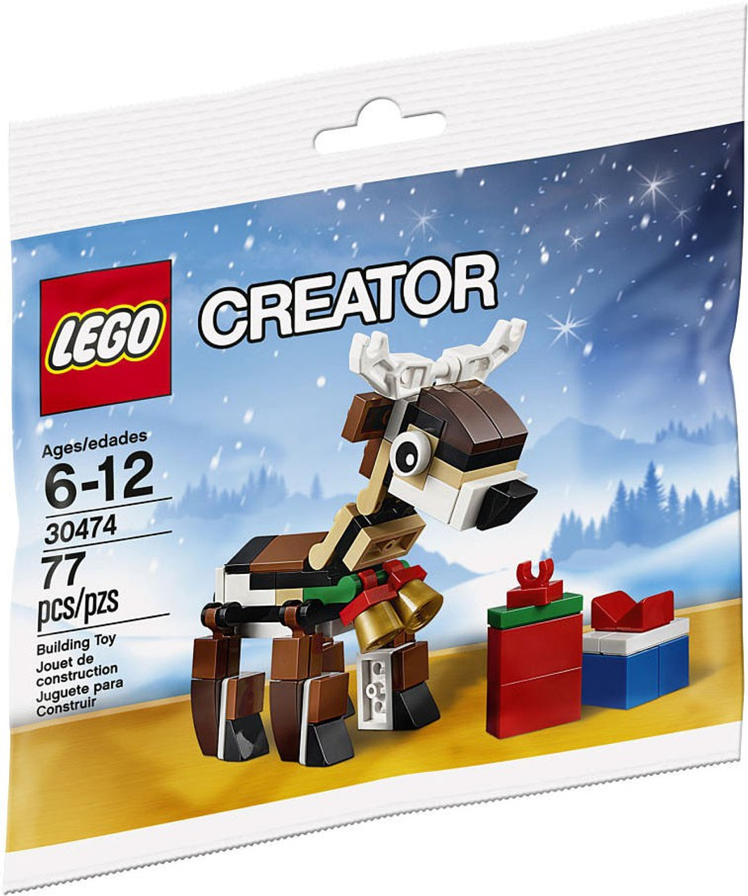 lego christmas 2016 reindeer mini set 30474 bagged