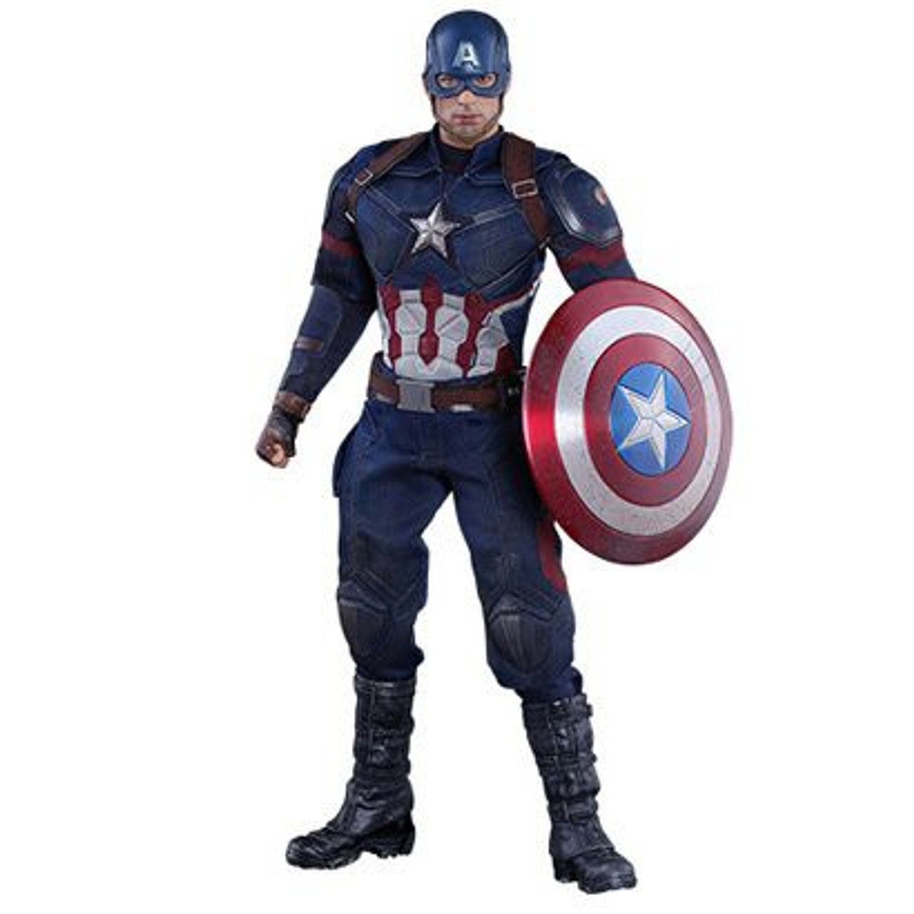 Marvel Captain America Civil War Captain America Exclusive 1/6 Collectible Figure [Battling Version]