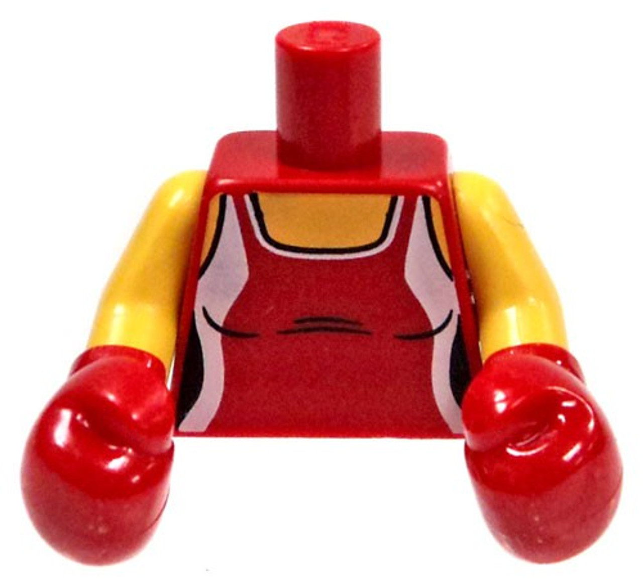 LEGO Minifigure Parts Red Tank Top with Boxing Gloves Loose Torso ...