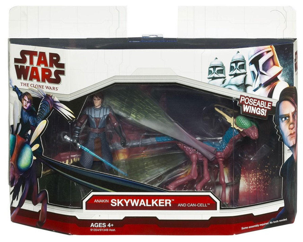 Star Wars The Clone Wars Anakin Skywalker & Can-cell Vehicle & Action Figure [Damaged Package, Mint Contents!]