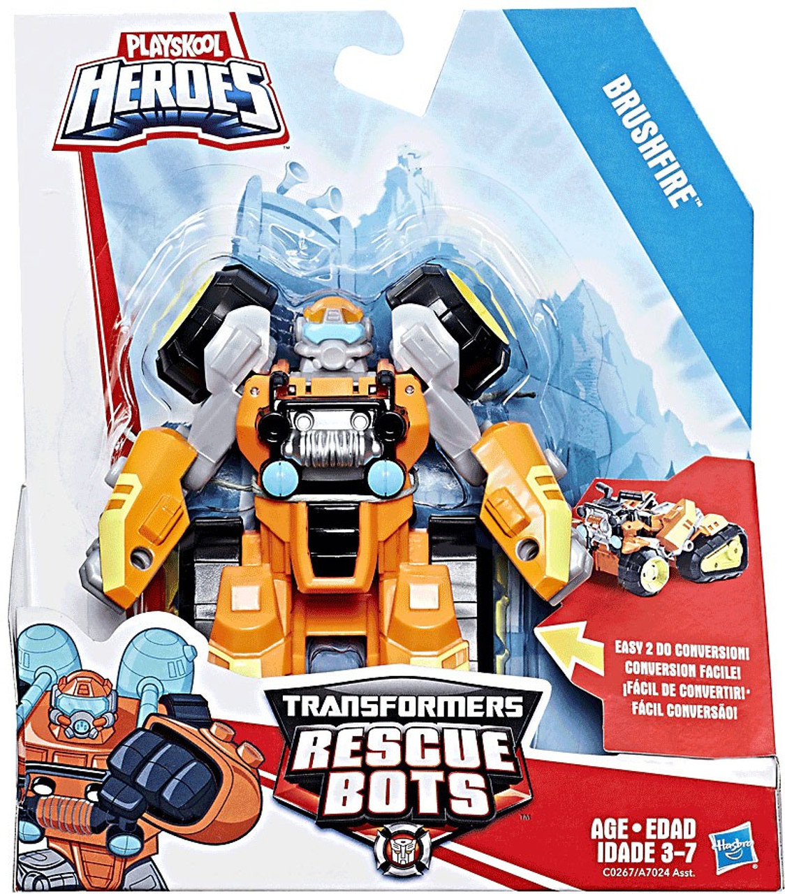 Transformers Rescue Bots Playskool Heroes Brushfire Action Figure
