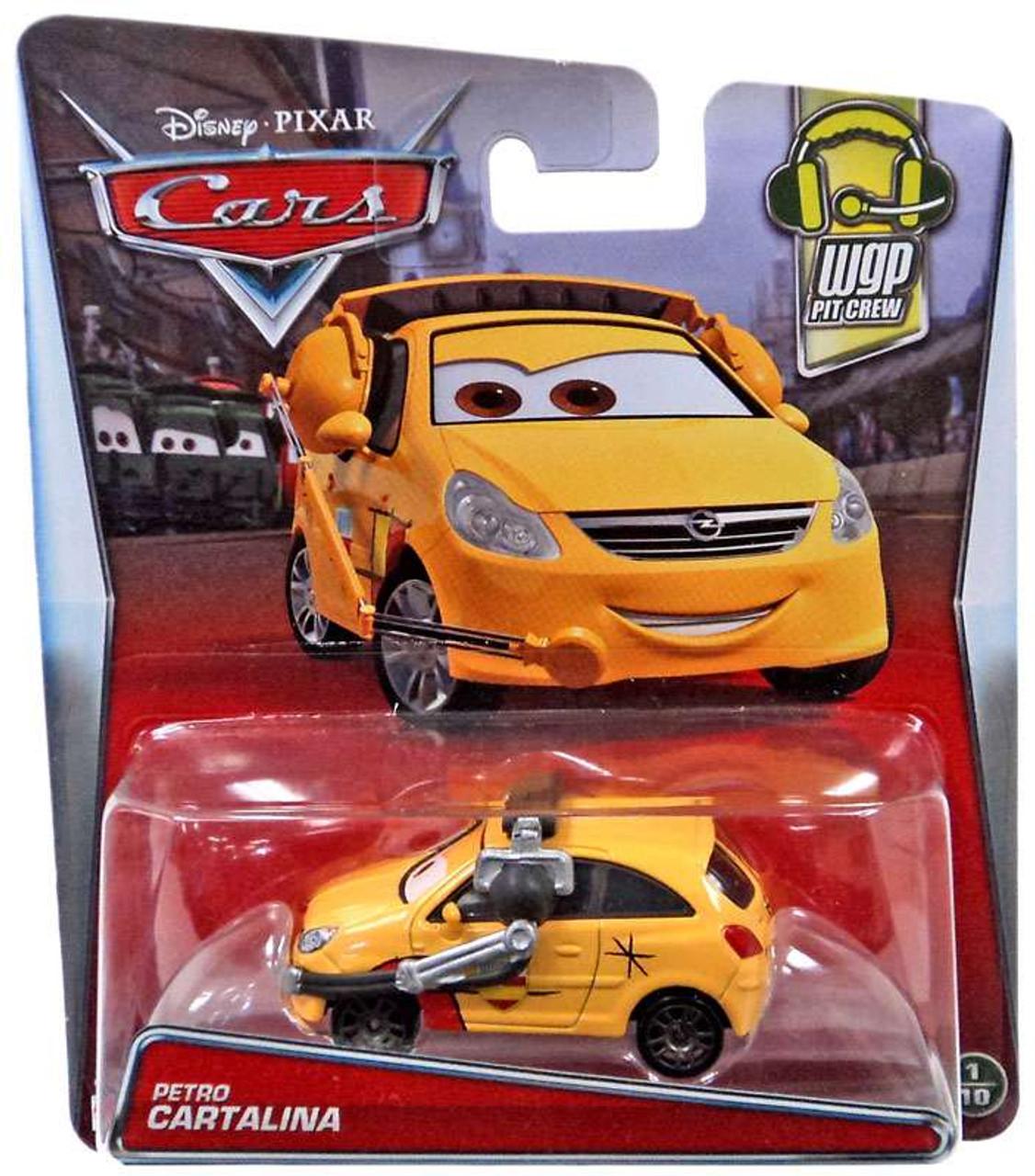 Disney Cars WGP Pit Crew Petro Cartalina 155 Diecast Car