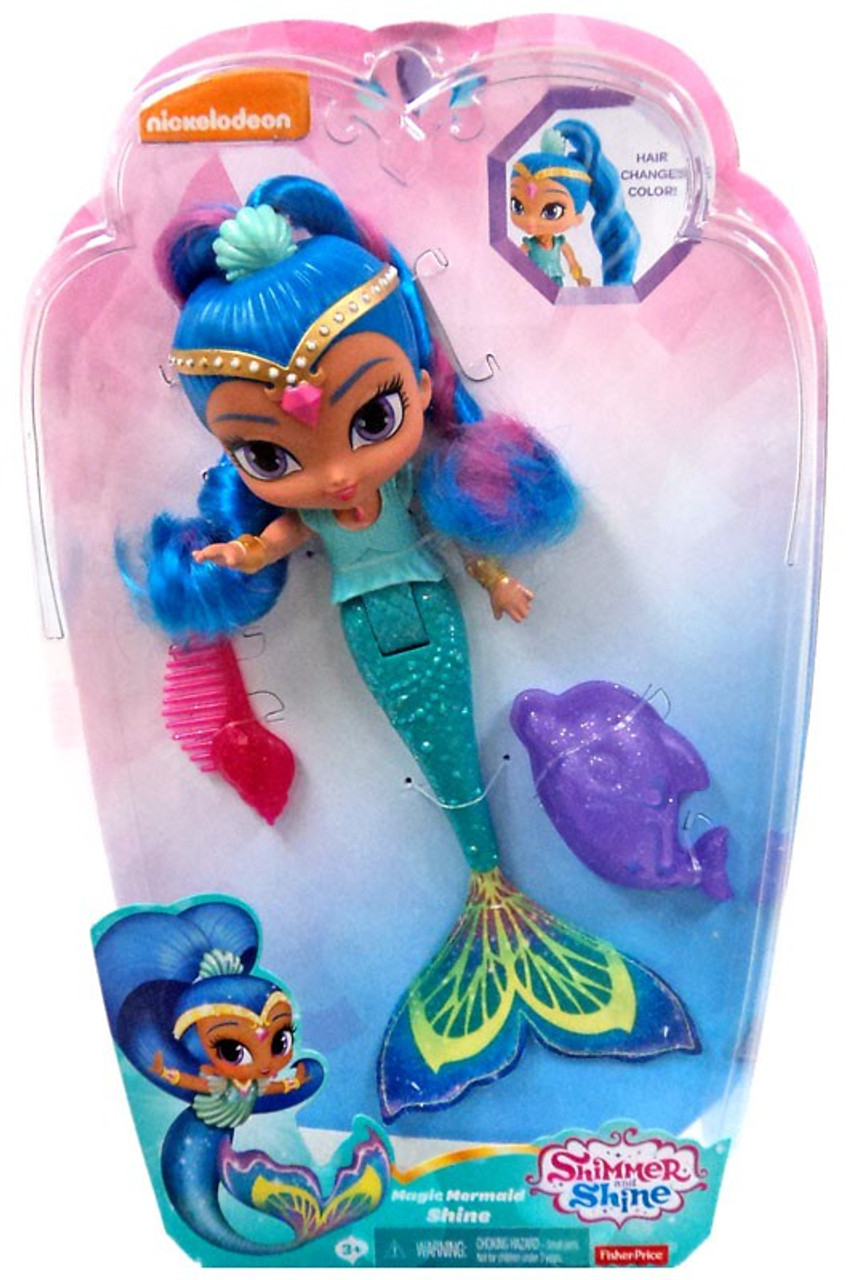 Fisher Price Shimmer Shine Magic Mermaid 9 Basic Doll Hair Changes Color