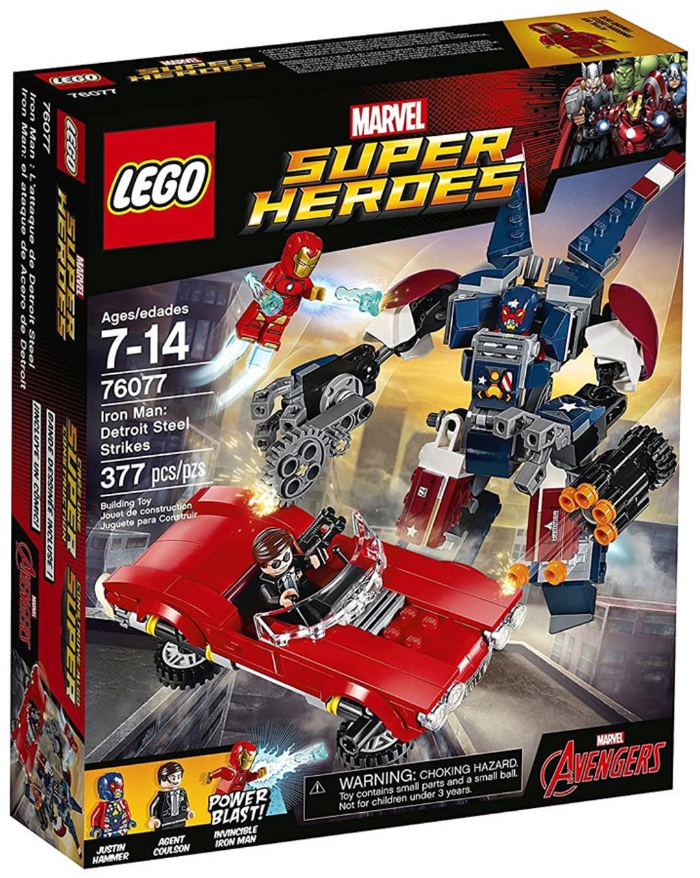 LEGO Marvel Super Heroes Avengers Iron Man Detroit Steel Strikes Set ...