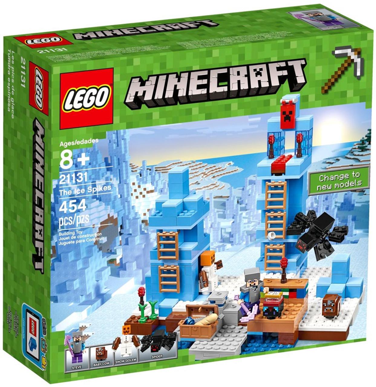 Lego Minecraft The Ice Spikes Set 21131 Toywiz 21124 End Portal