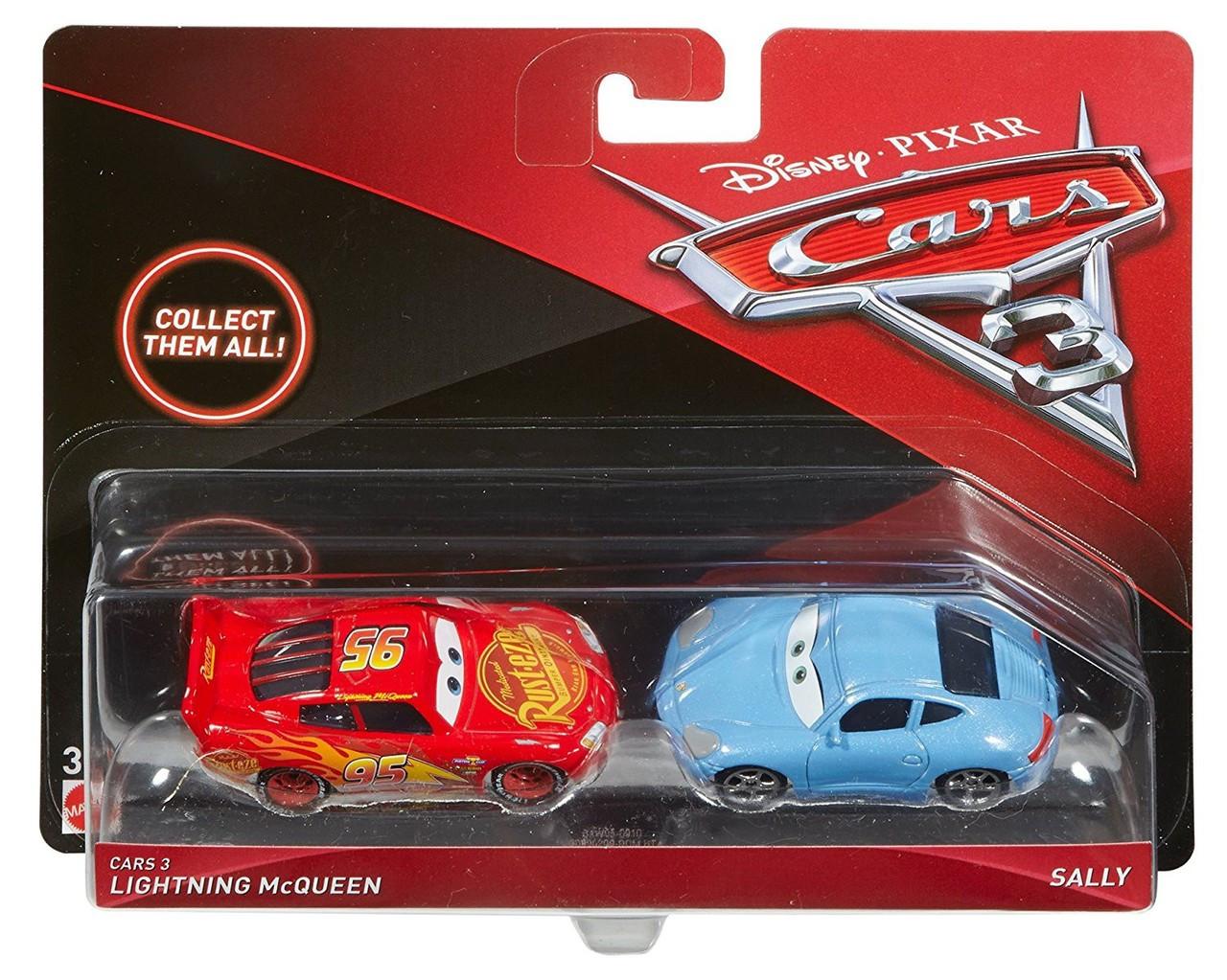Disney Pixar Cars Cars 3 Lightning Mcqueen Sally Diecast 2 Pack