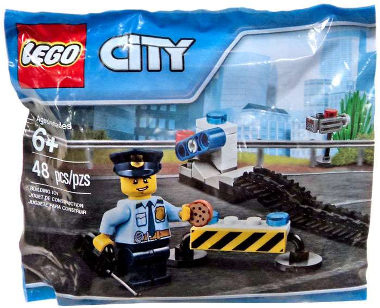 lego city police road block mini set 6182882 bagged - Lgo City Police