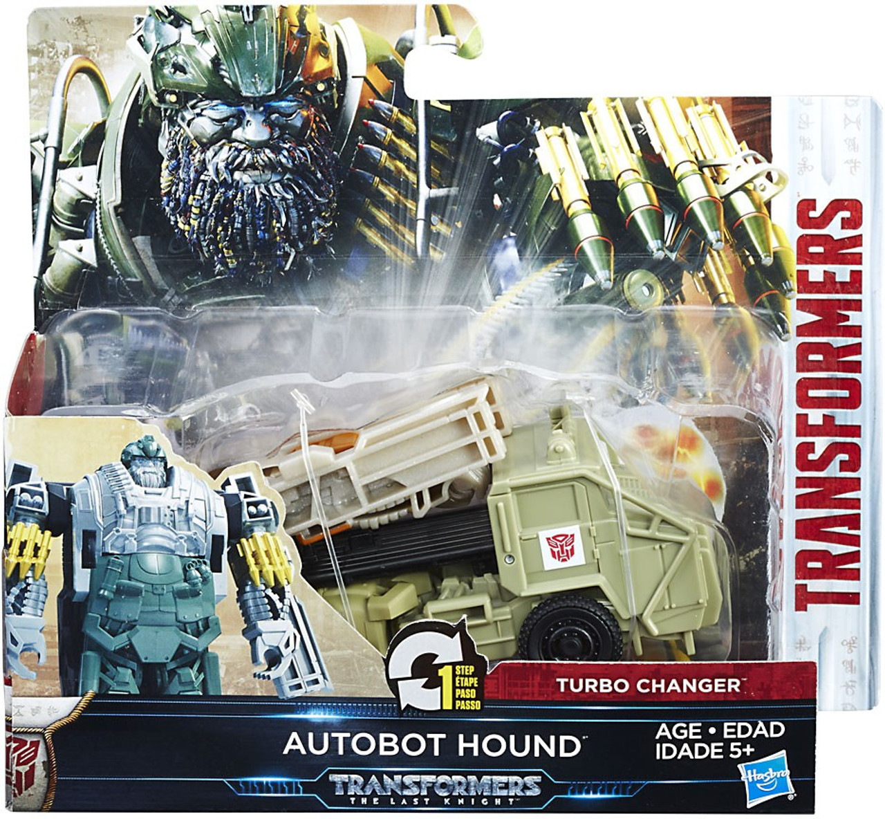 transformers the last knight 1 step turbo changer autobot hound action figure supernova hasbro. Black Bedroom Furniture Sets. Home Design Ideas