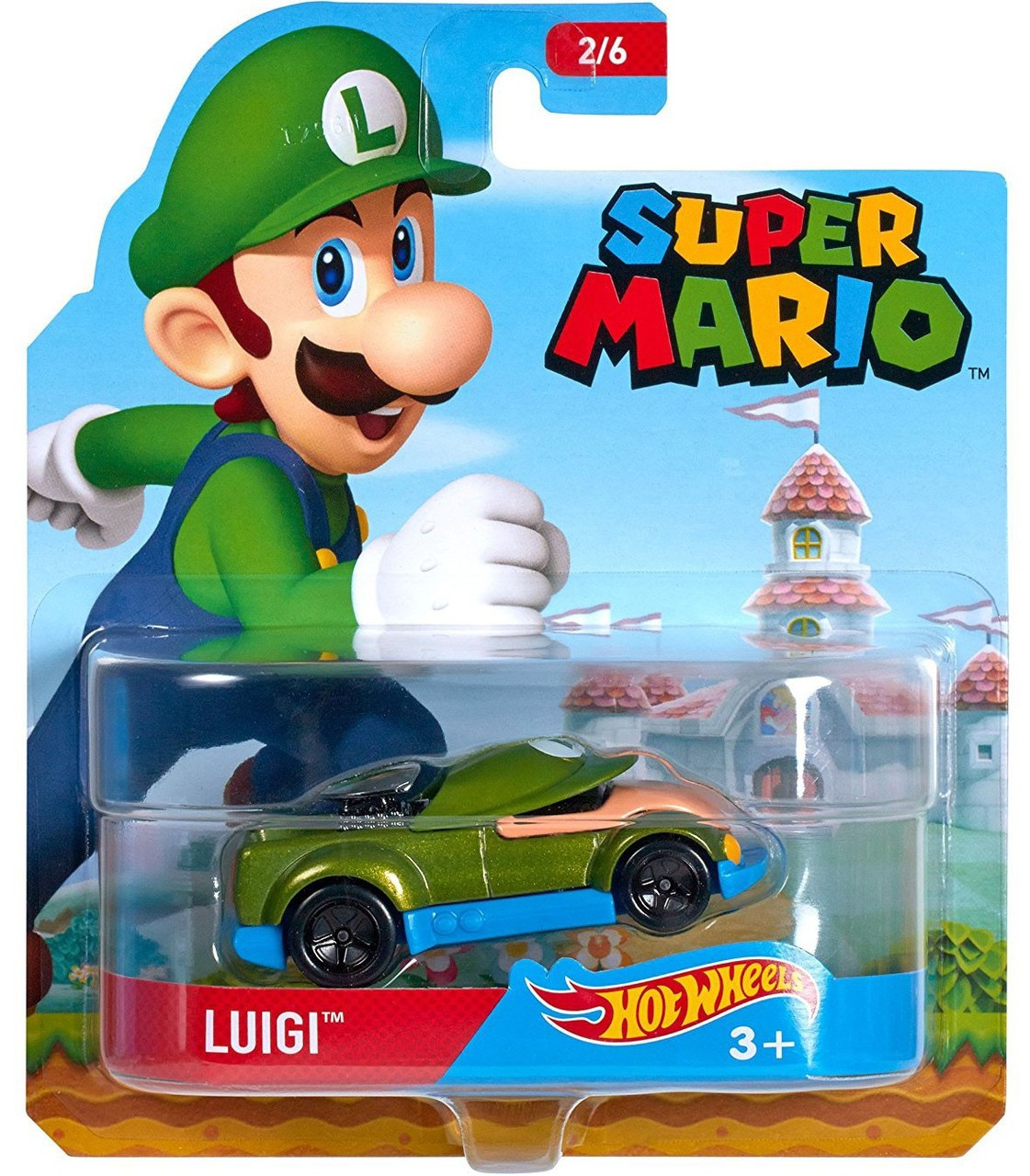 hot wheels super mario luigi 164 diecast character car. Black Bedroom Furniture Sets. Home Design Ideas