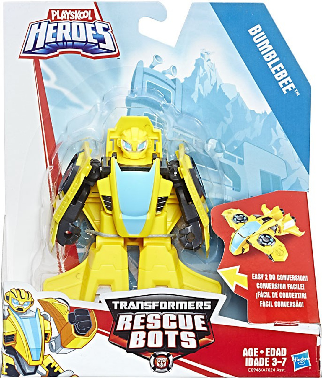 Transformers Rescue Bots Playskool Heroes Bumblebee Action Figure Rescan Hasbro Toys