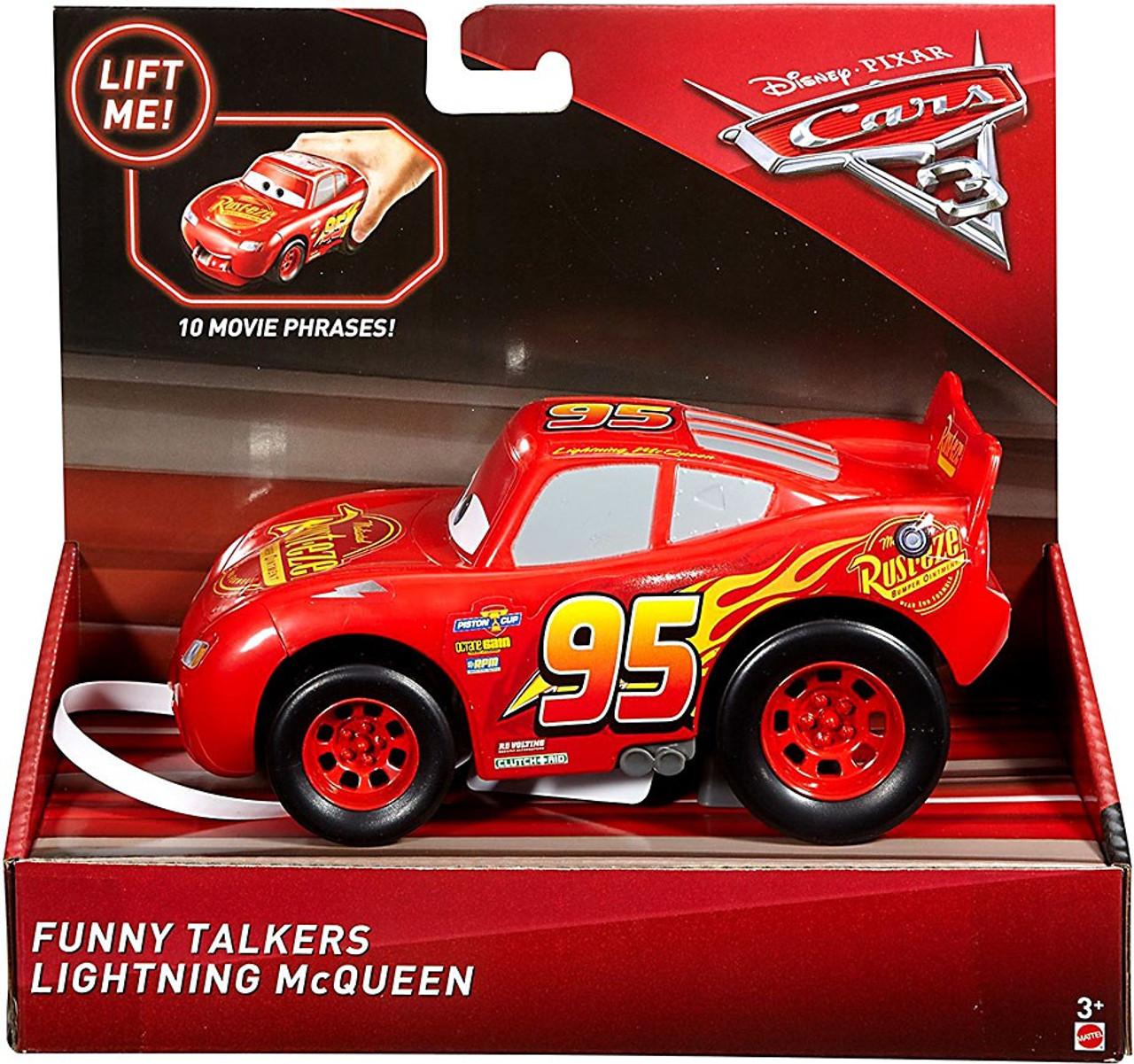 Disney Pixar Cars Cars 3 Funny Talkers Lightning Mcqueen Vehicle