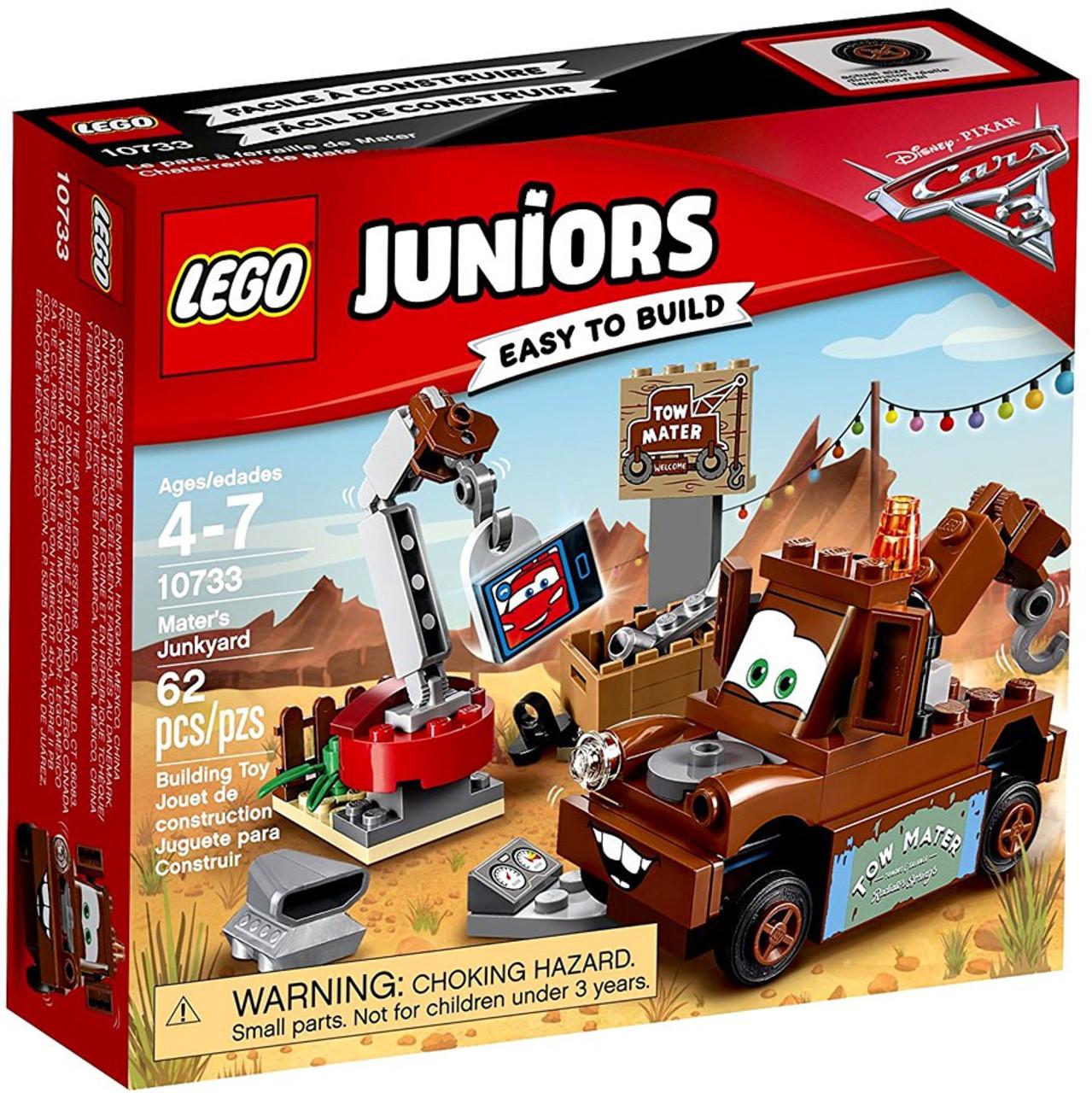 Lego Disney Pixar Cars 3 Juniors Maters Junk Yark Set 10733 Spy Jet Escape 8638 Toywiz