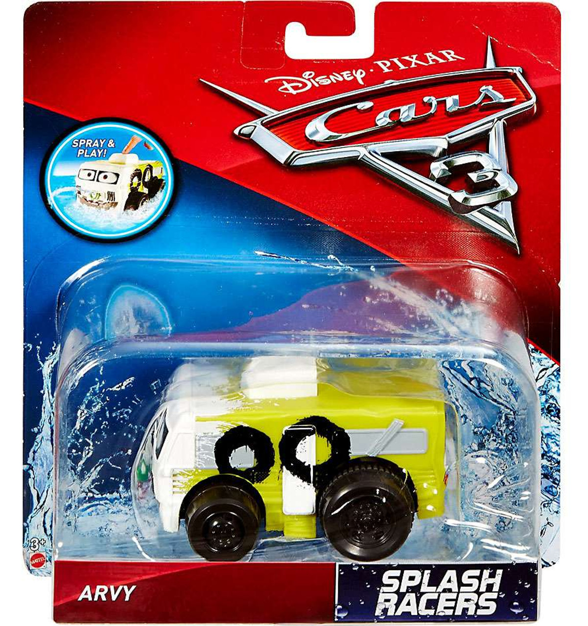 Disney Pixar Cars Cars 3 Splash Racers Oversized Arvy Bath Splashers
