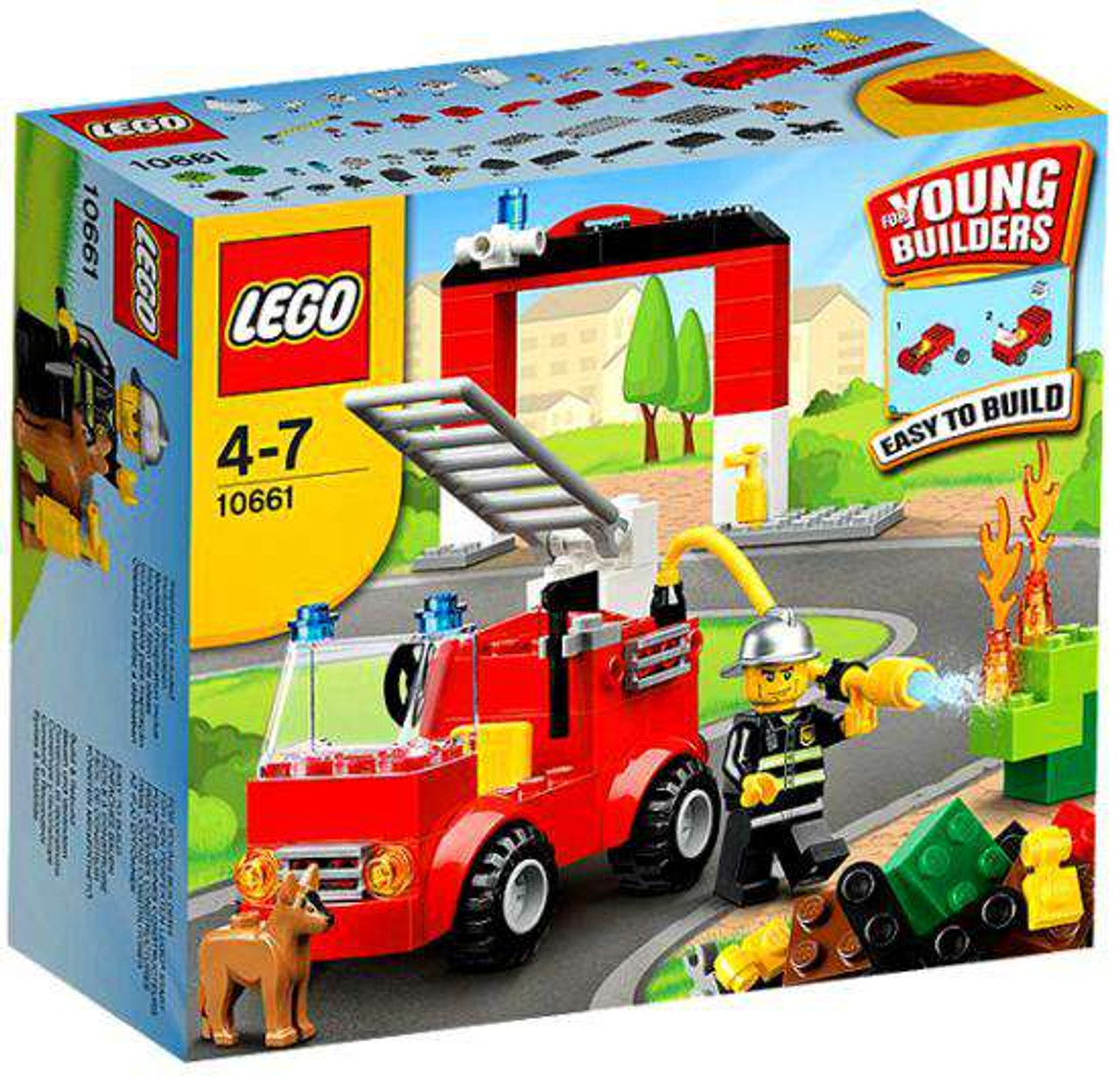 Lego Young Builders Fire Station Set 10661 Damaged Package Toywiz