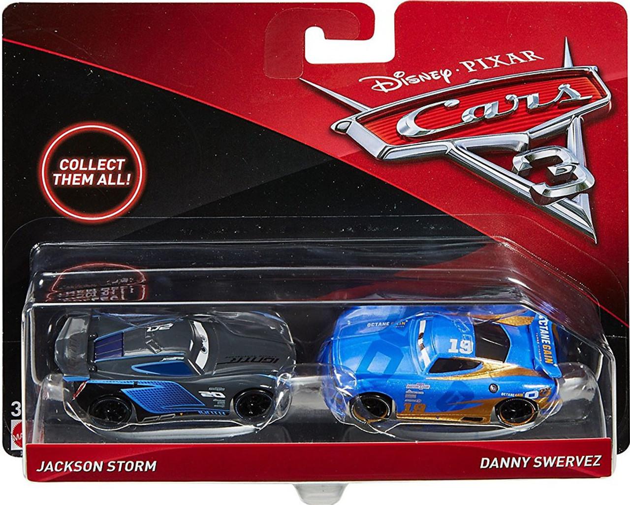 Disney Pixar Cars Cars 3 Jackson Storm Danny Swervez Diecast 2 Pack