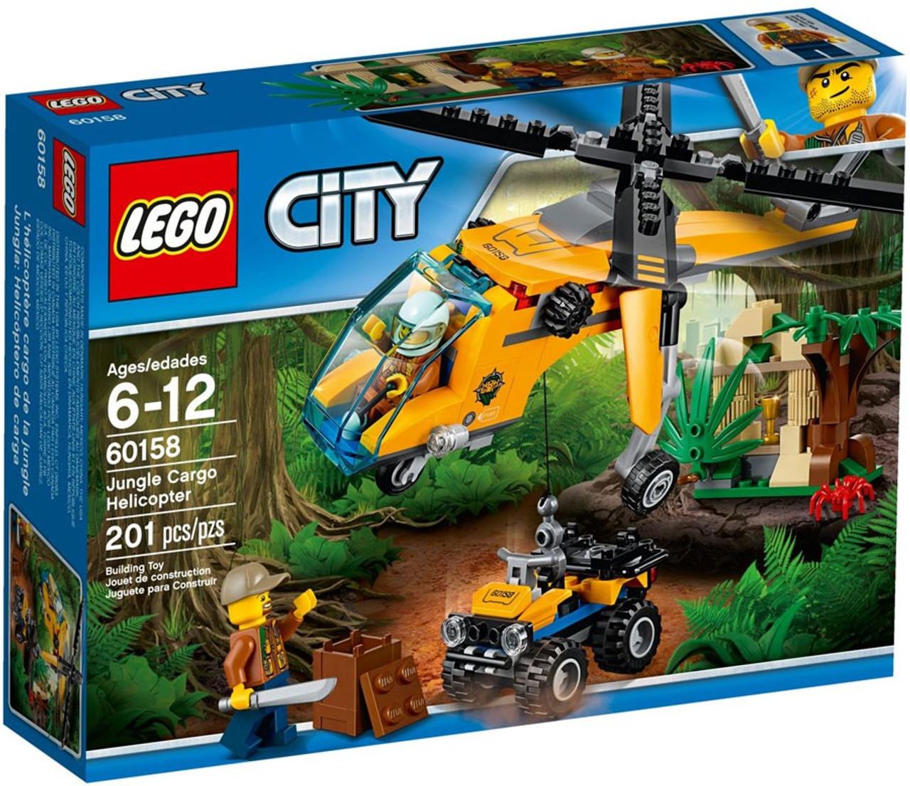 LEGO City Jungle Cargo Helicopter Set 60158 - ToyWiz