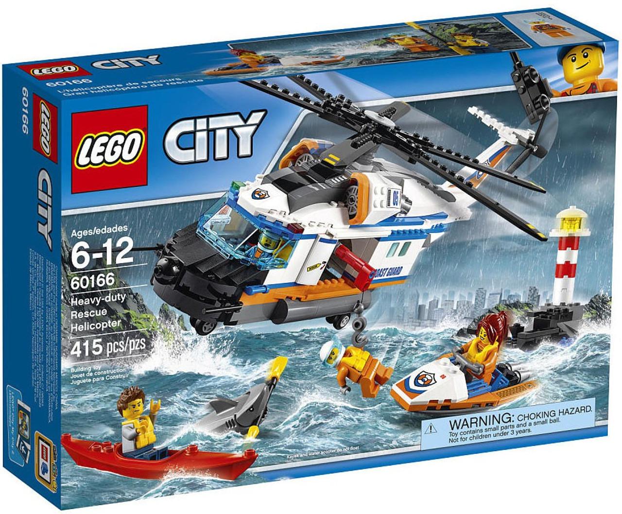 LEGO City Heavy-Duty Rescue Helicopter Set 60166 - ToyWiz