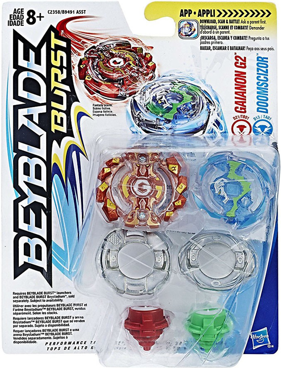 beyblade burst gaianon g2 doomscizor dual pack hasbro toys. Black Bedroom Furniture Sets. Home Design Ideas