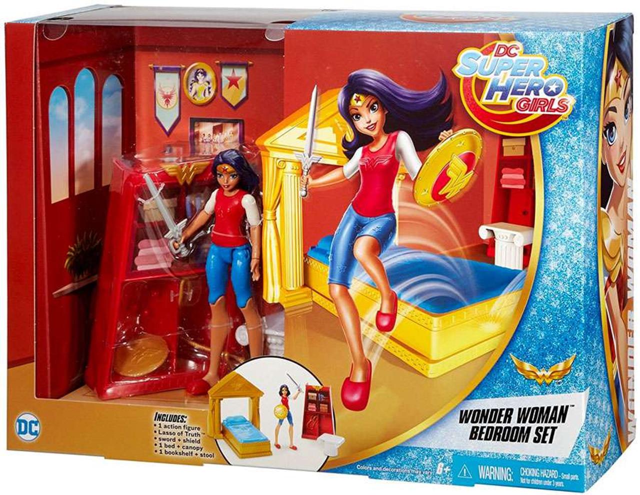 Dc Super Hero Girls Wonder Woman Bedroom Set Mattel Toys