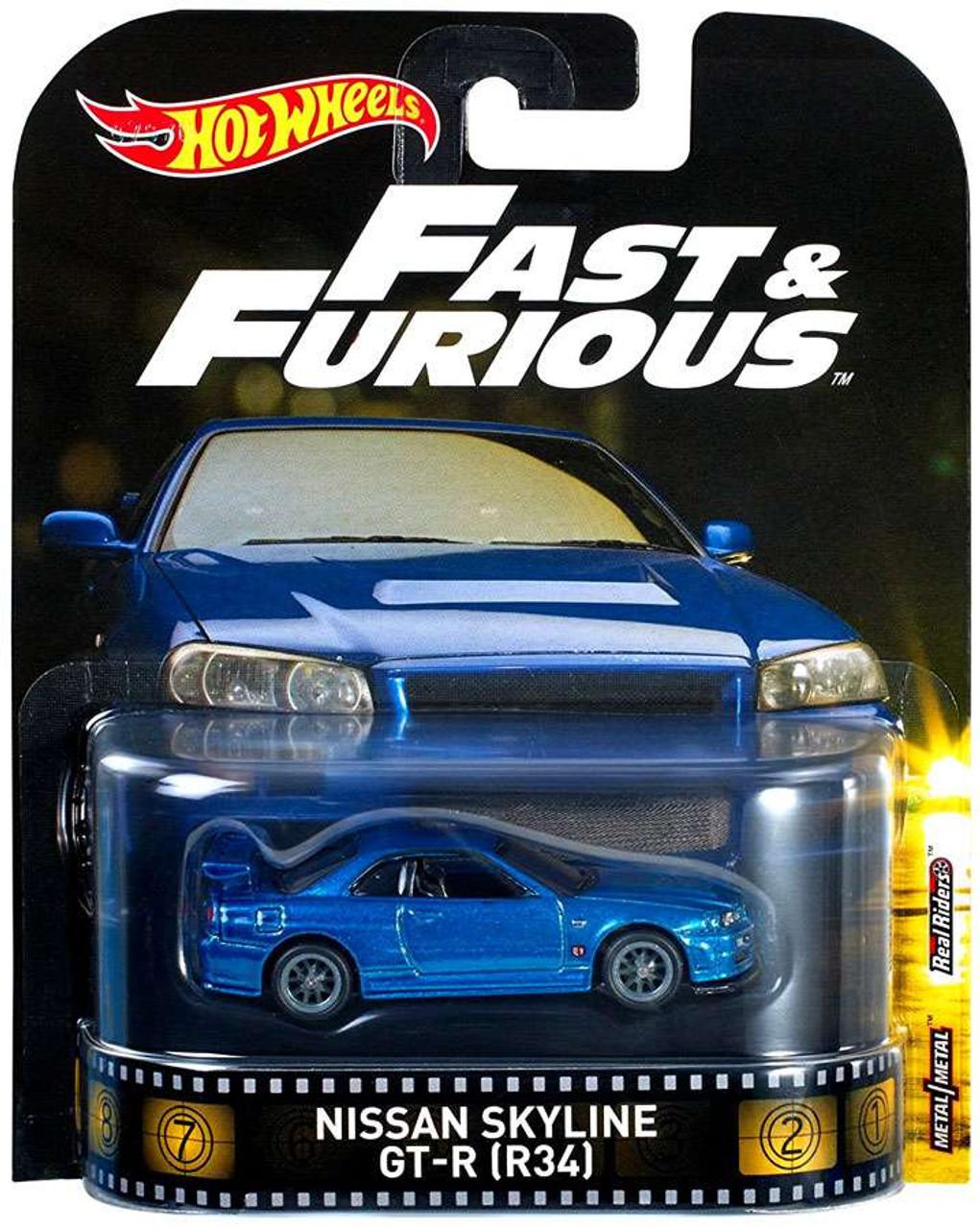 Hot Wheels Fast Furious Nissan Skyline Gt R R34 Die Cast Car Mattel