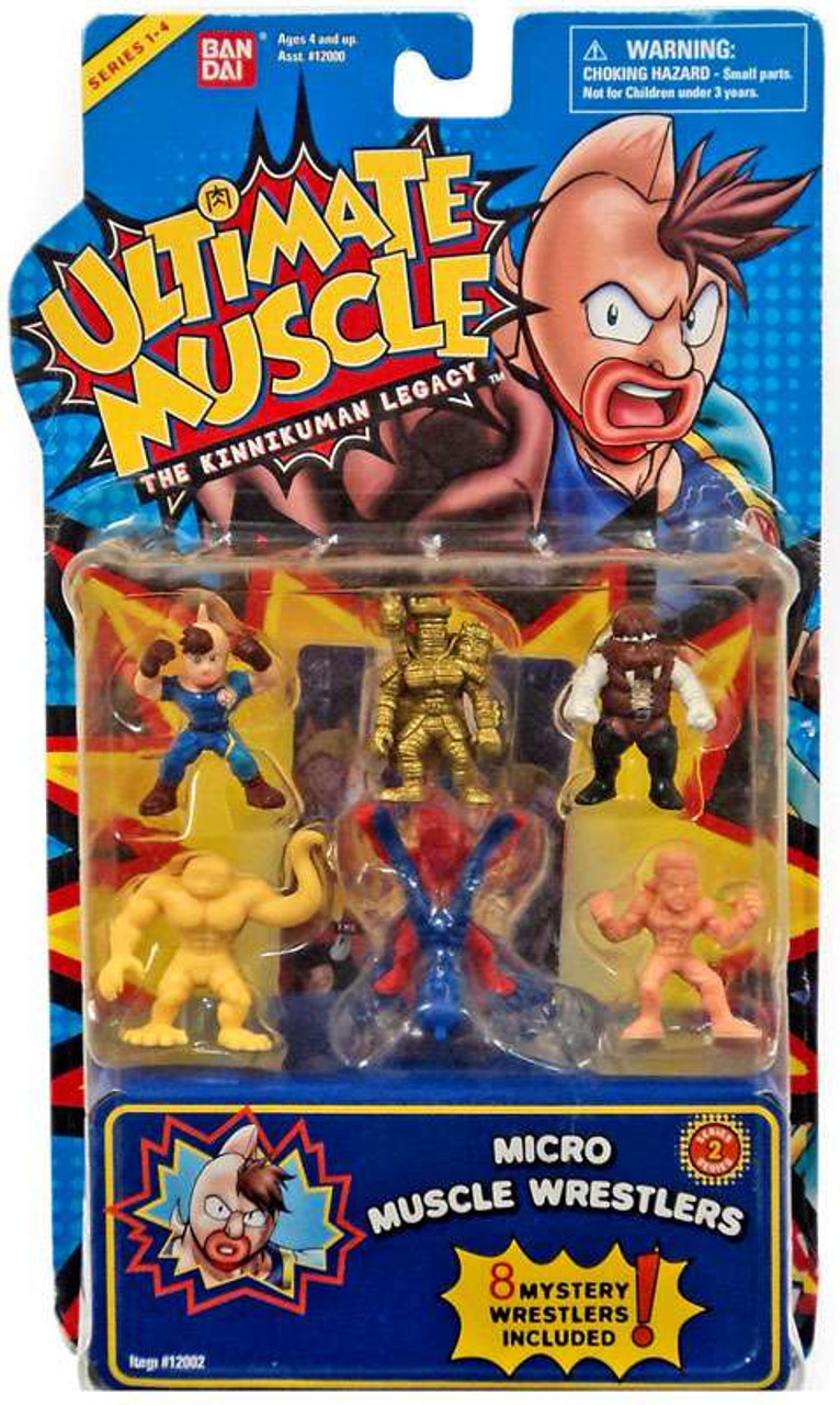Ultimate Muscle Series 1-4 Micro Muscle Wrestlers Mini Figure 8-Pack