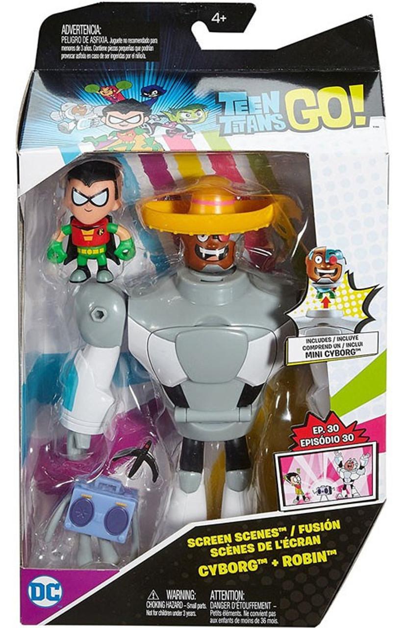 Teen Titans Toys Stuff : Teen titans go screen scenes cyborg robin action figure