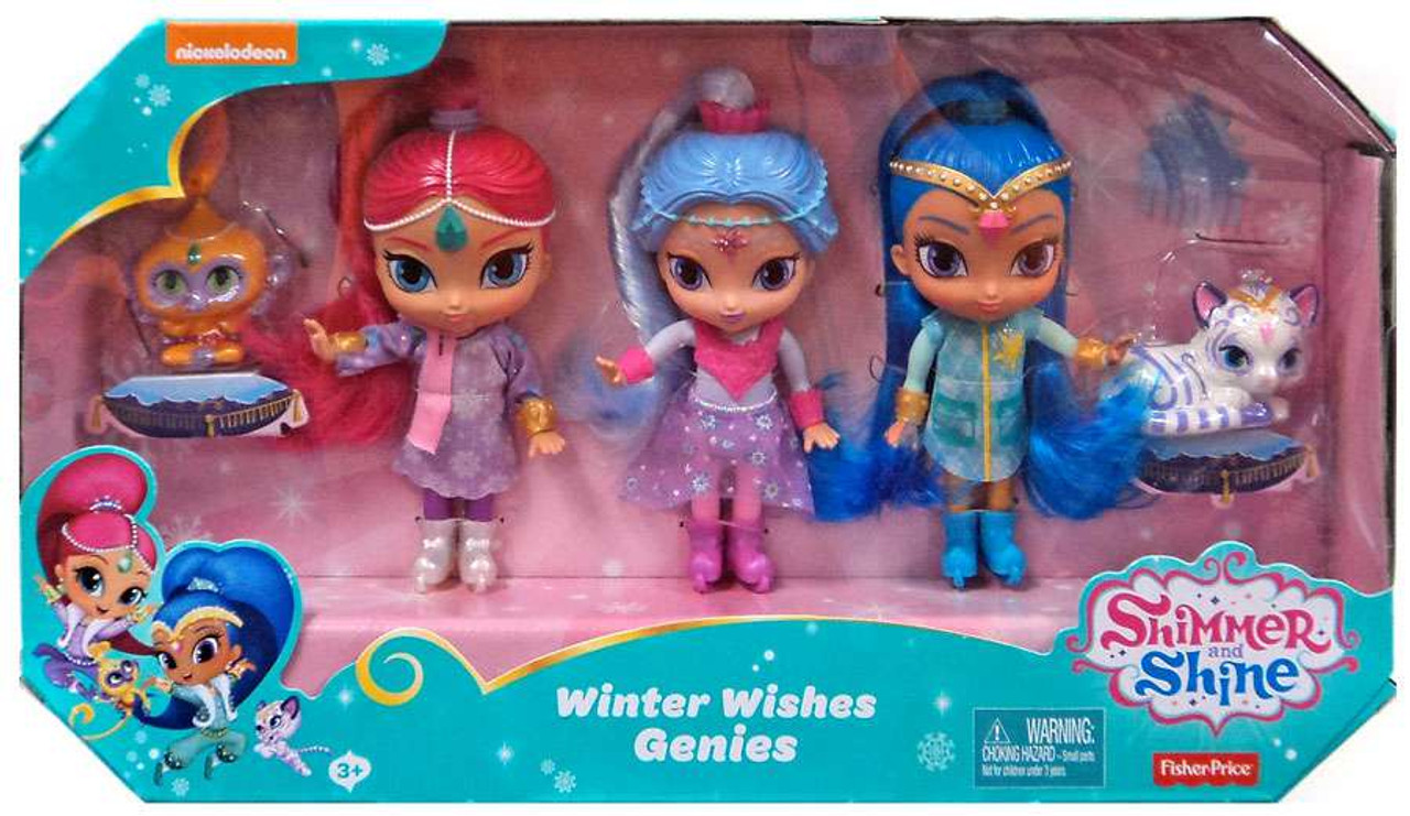 Fisher Price Shimmer Shine Winter Wishes Genies 6 Basic Doll 3 Pack