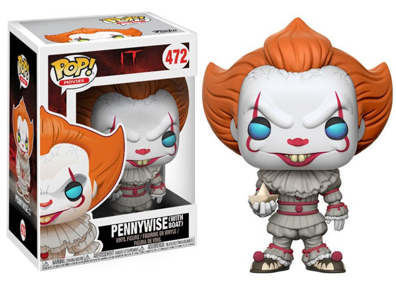 Funko POP! Movies Pennywise (with Boat) Vinyl Figure #472 [Full Colored, Regular Version] (Pre-Order ships February)