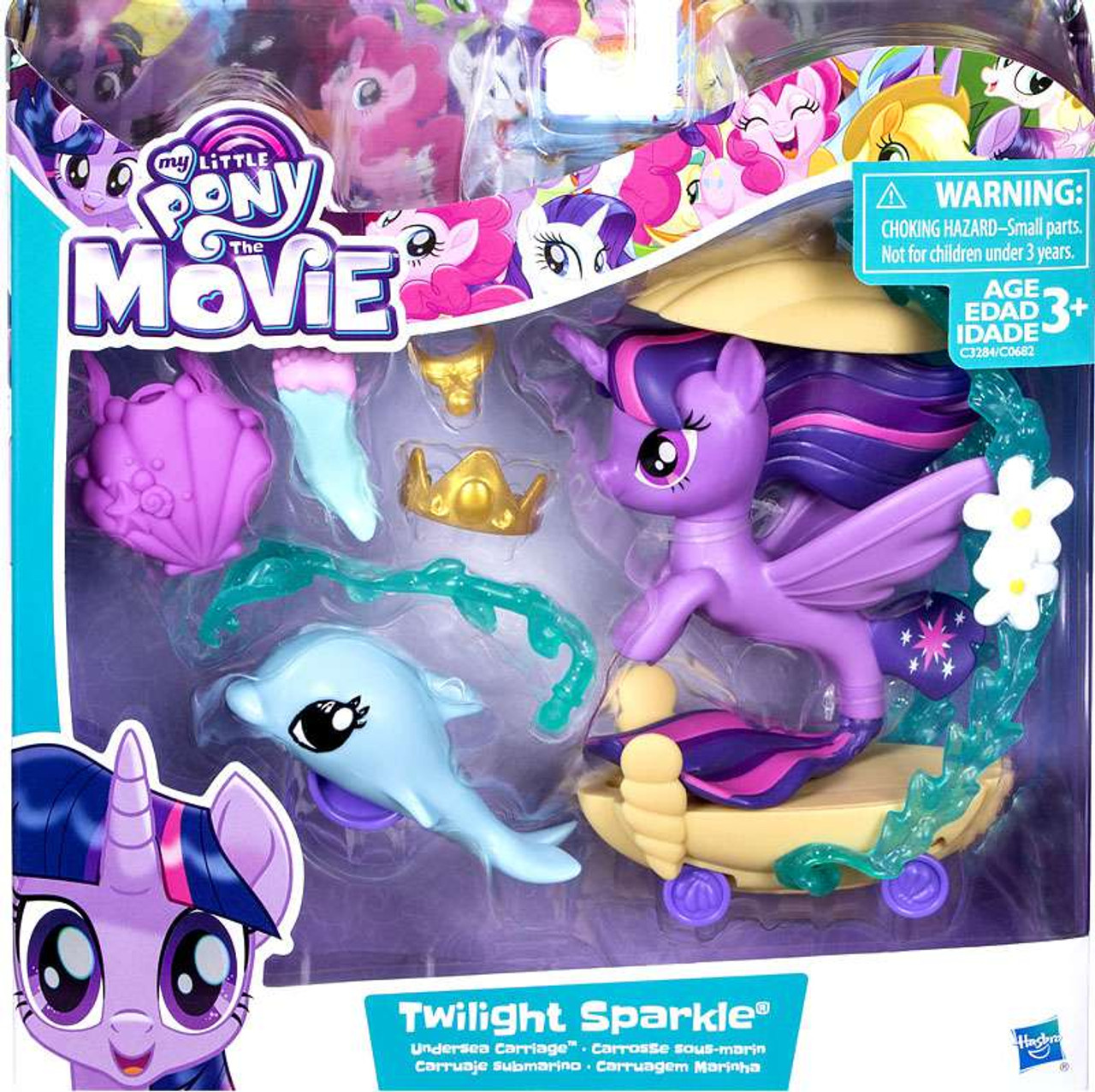 my little pony the movie twilight sparkle undersea carriage playset