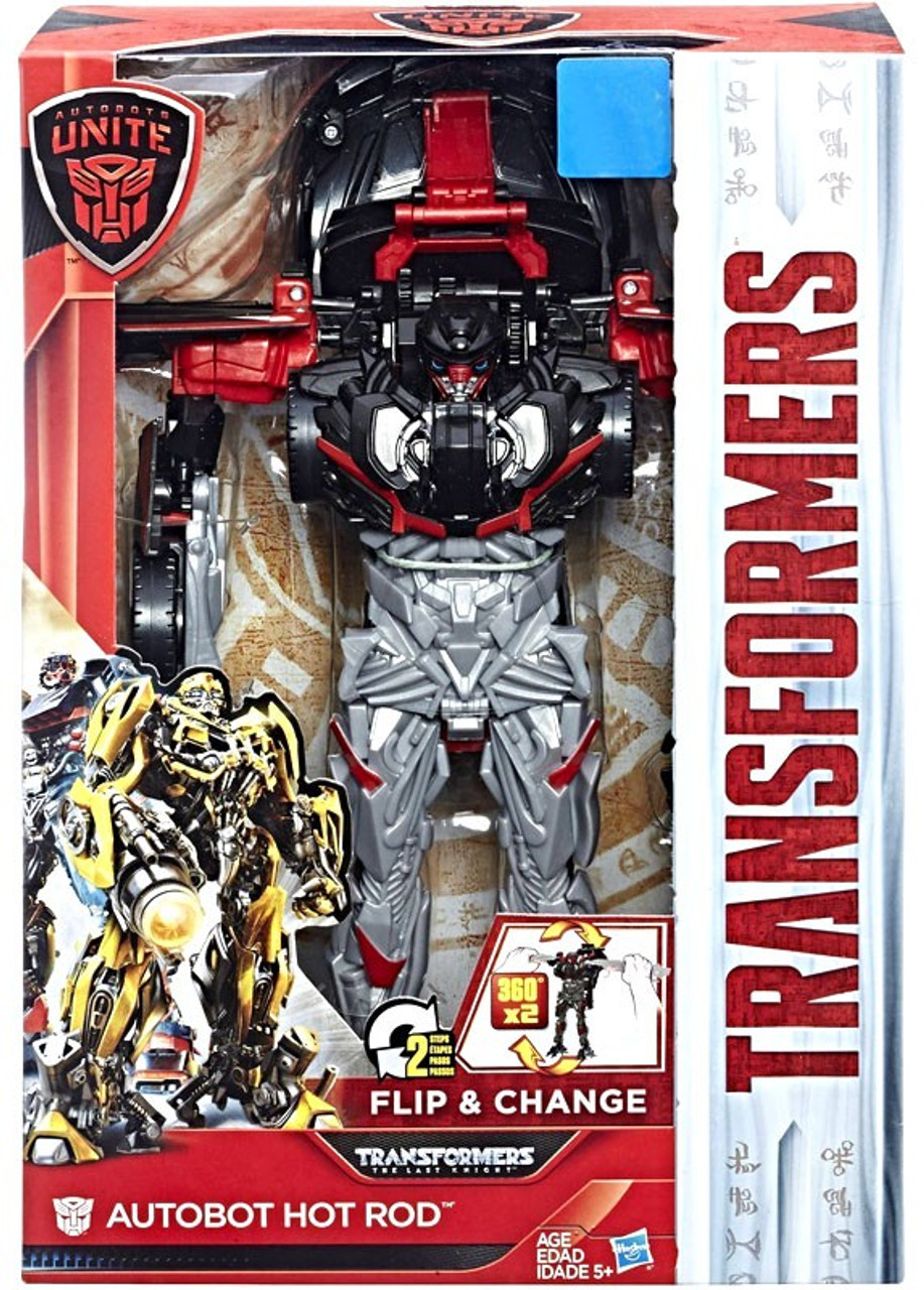 Transformers The Last Knight Autobots Unite Autobot Hot Rod Exclusive Action Figure [Flip & Change]